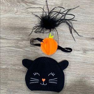 Carter's Halloween headbands & hat